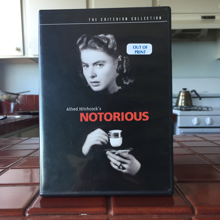 Notorious, Alfred Hitchcock. #film #dvd