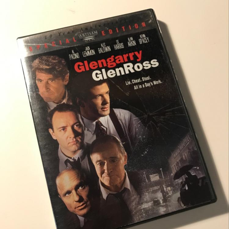 Glengarry GlenRoss, dir James Foley, written by David Mamet, #film #dvd