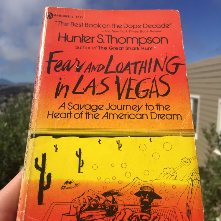 Fear and Loathing in Las Vegas, Hunter S. Thompson. #books