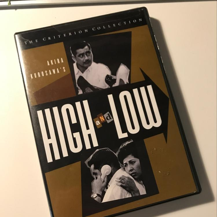 High and Low, dir Akira Kurosawa #dvd #film #criterion